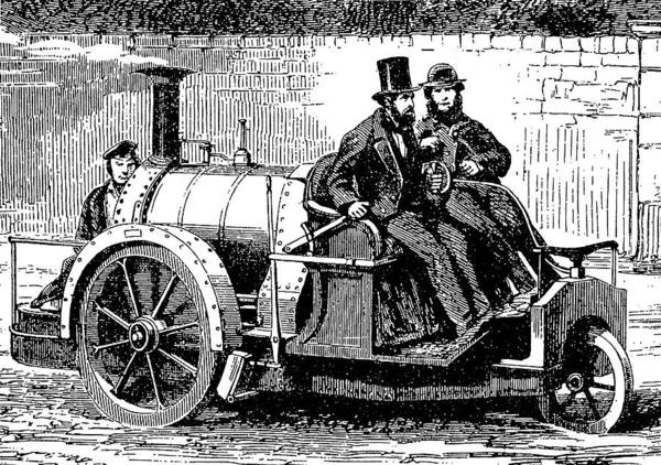 Wall Art - Digital Art - Thomas Rickett 1858 Steam Carriage Bw by David King