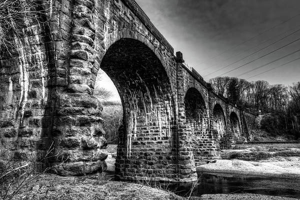 Photograph - Thomas Viaduct In Black And White by Dennis Dame