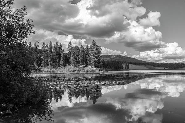 Photograph - Thompson Lake In Black And White by Teresa Wilson