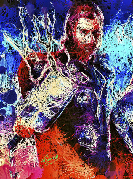 Mixed Media - Thor Charged Up by Matra Art