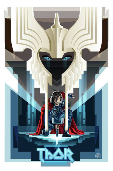 Nordic Digital Art - Thor Concept by Garth Glazier