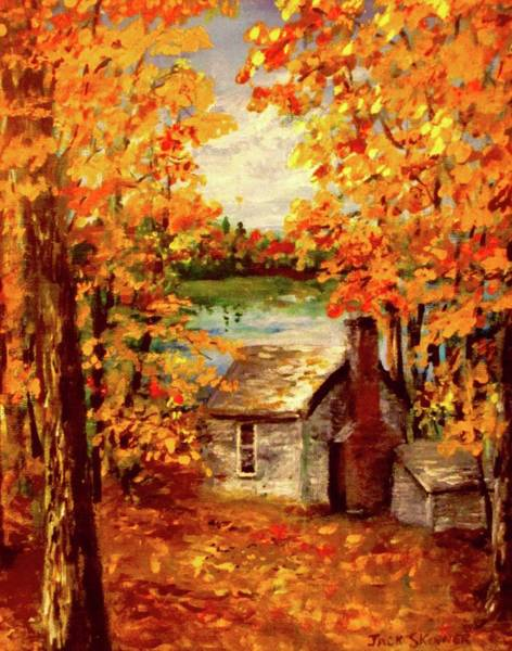 Wall Art - Painting - Thoreau's Cove by Jack Skinner