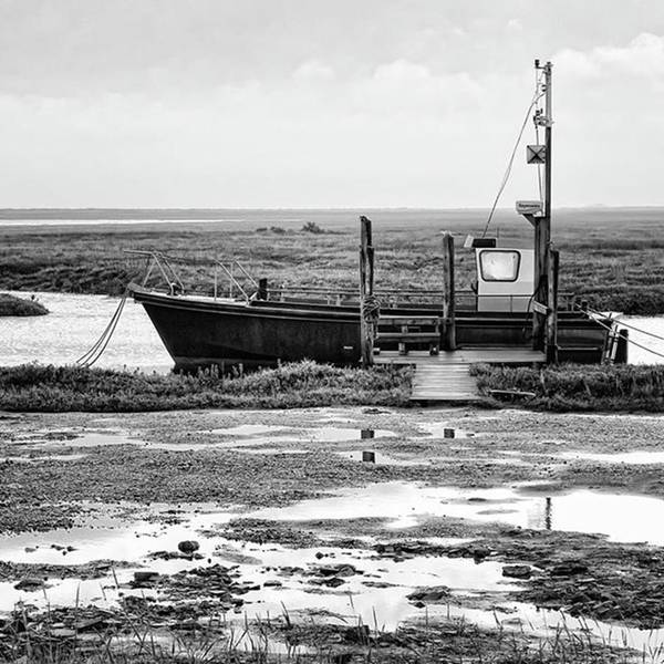 Transportation Photograph - Thornham Harbour, North Norfolk by John Edwards