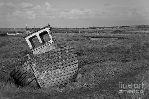 Childhood Digital Art - Thornham Wreck by John Edwards