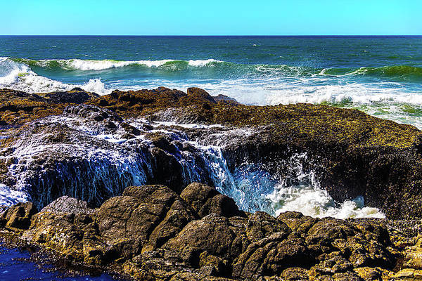Costal Photograph - Thors Well by Garry Gay