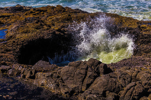 Costal Photograph - Thor's Well Oregon Coast by Garry Gay