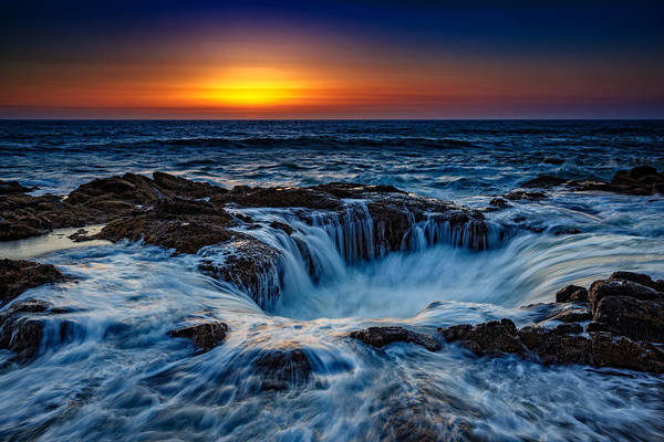 Oregon Coast Photograph - Thor's Well by Rick Berk