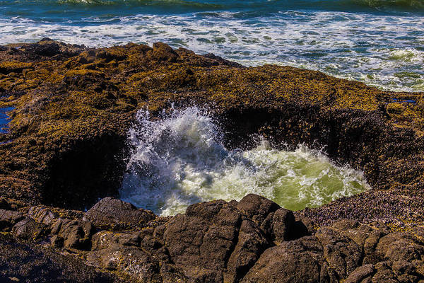 Costal Photograph - Thor's Well Sunken Cave by Garry Gay
