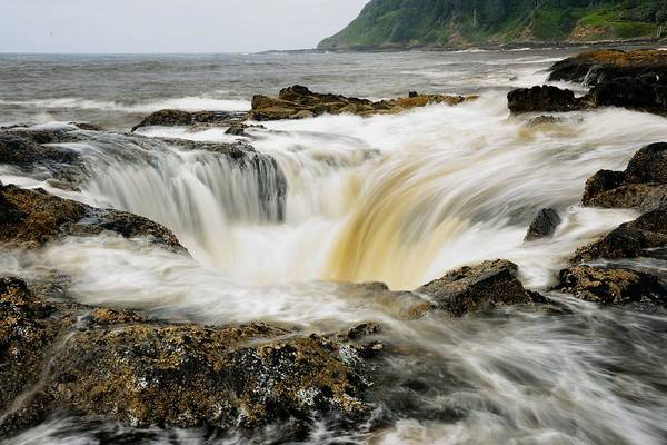 Photograph - Thor's Well by Walt Sterneman