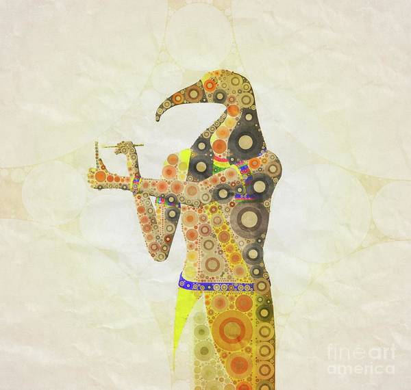 Egypt Digital Art - Thoth, God Of Egypt By Mary Bassett by Mary Bassett