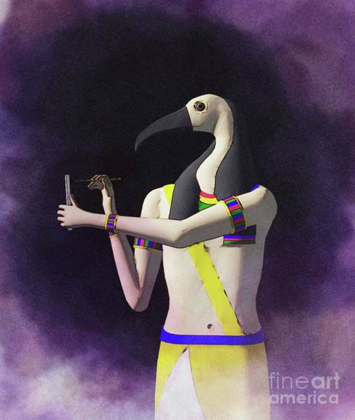 Wall Art - Painting - Thoth - God Of Egypt by Raphael Terra
