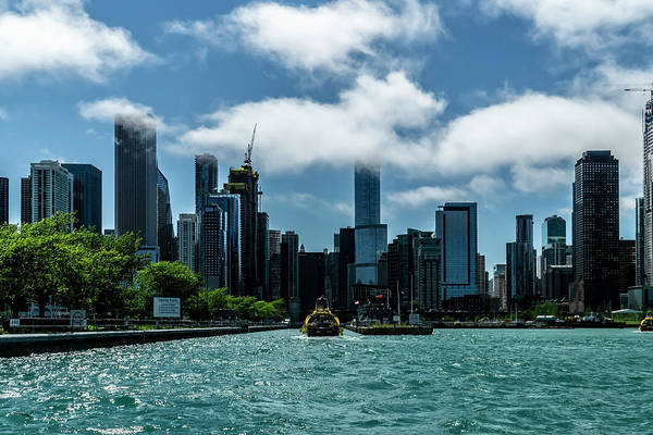 Photograph - Though The Locks Looking Back At The Chicago Skyline  by Sven Brogren