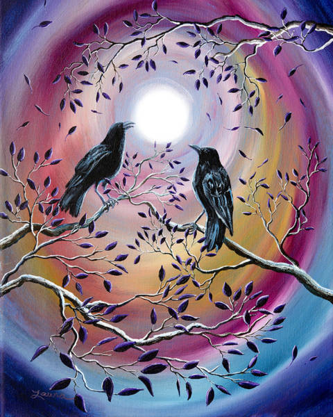Full Moon Painting - Thought And Memory by Laura Iverson
