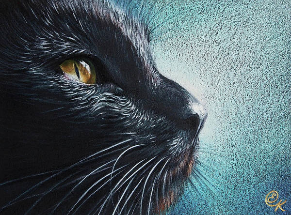 Thoughtful Cat Art Print