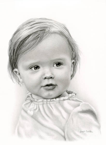 Nursery Drawing - Thoughtful Eyes by Sarah Batalka