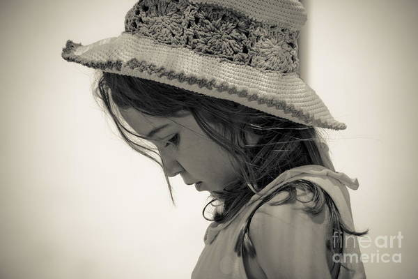 Photograph - Thoughtful Girl by Bruno Spagnolo