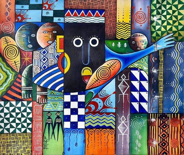 Painting - Thoughts In Color by Femi
