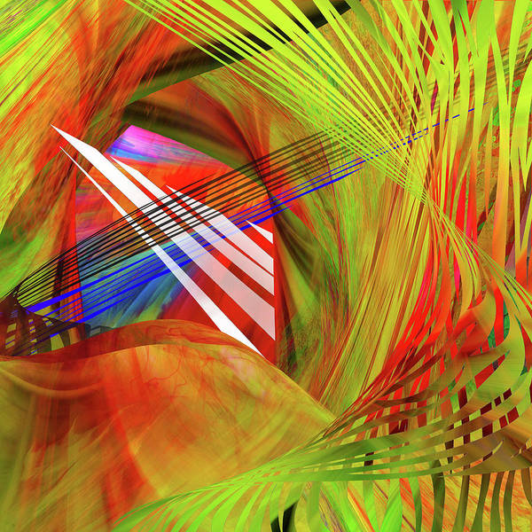 Scaffold Digital Art - Thoughts Of Spirits Dancing by Mac Titmus