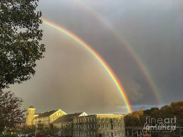 Photograph - Thread City Double Rainbow  by Michael Hughes