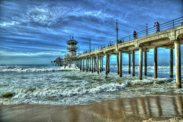 Photograph - Threading The Needle Huntington Beach Pier California Surfing Los Angeles Collection Art by Reid Callaway