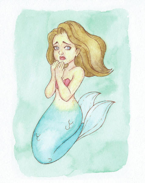 Inking Painting - Threaten Mermaid - Mermay 2018 by Armando Elizondo
