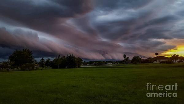 Shelf Cloud Photograph - Threatening Sky by Barbara Knowles