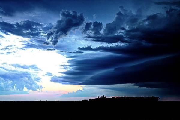 Photograph - Threatening Storm Clouds by David Matthews