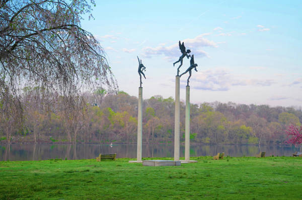 Photograph - Three Angels In Spring - Kelly Drive Philadelphia by Bill Cannon