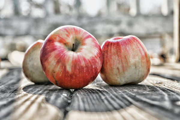 Photograph - Three Apples by Sharon Popek