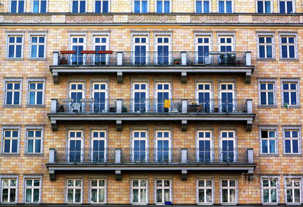 Photograph - Three Balconies In East Berlin by John Rizzuto