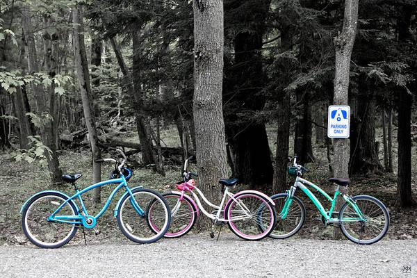 Photograph - Three Bikes  by John Meader