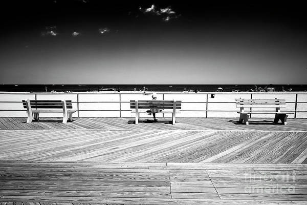 Photograph - Three Boardwalk Benches by John Rizzuto