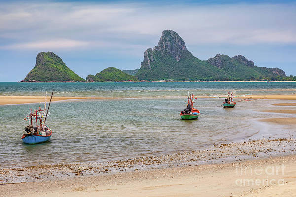 Photograph - Three Boats Thailand by Adrian Evans