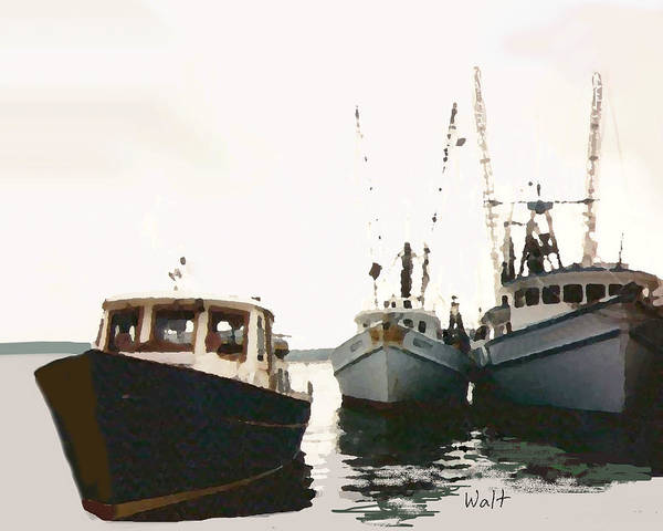 Photograph - Three Boats by Walter Chamberlain