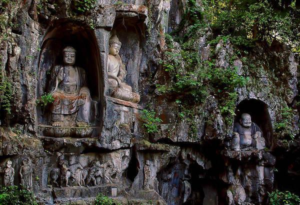 Photograph - Three Buddhas by Harry Spitz