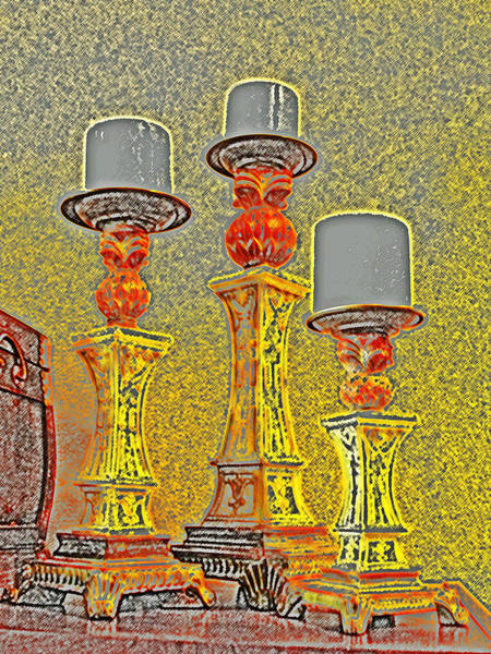 Digital Art - Three Candles by James Granberry