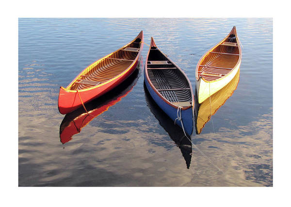Photograph - Three Canoes On The 4th by Betsy Derrick