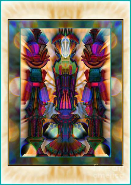 Mixed Media - Three Columns Of Faith by Wbk