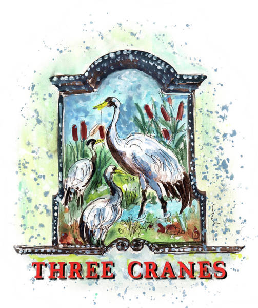 Painting - Three Cranes In York by Miki De Goodaboom