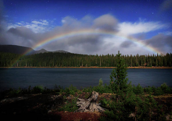 Wall Art - Photograph - Three Creeks Moonbow by Cat Connor