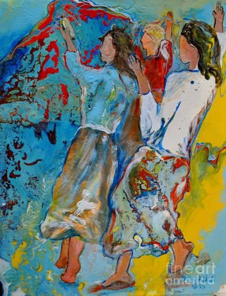 Painting - Three Dancers by Deborah Nell