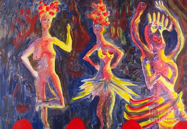 Painting - Three Dancers by Walt Brodis