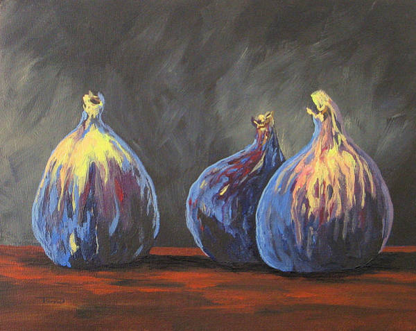 Wall Art - Painting - Three Figs by Torrie Smiley