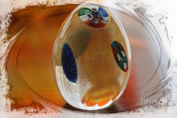 Glass Art - Three Fiori Murano by Jolanta Anna Karolska