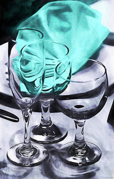 Three Glass Illusion Art Print
