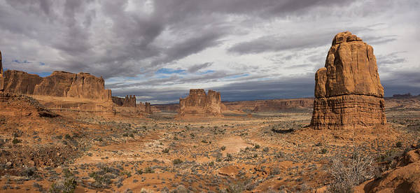 Wall Art - Photograph - Three Gossips And Courthouse Towers Panorama - Arches National Park - Moab Utah by Brian Harig