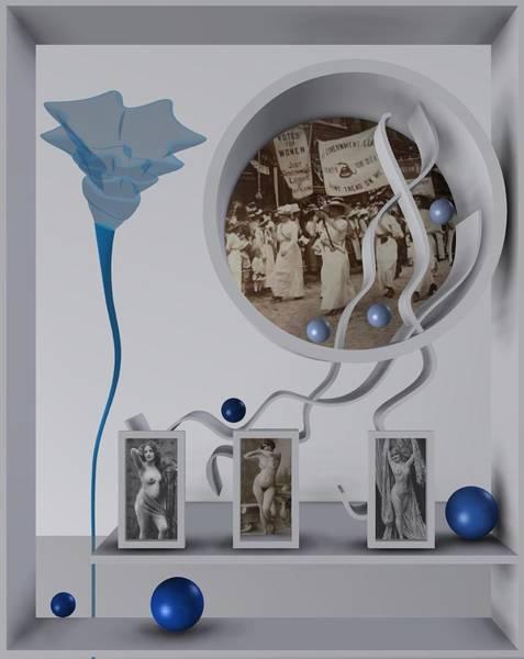 Digital Art - Three Graces 1 by Alberto RuiZ