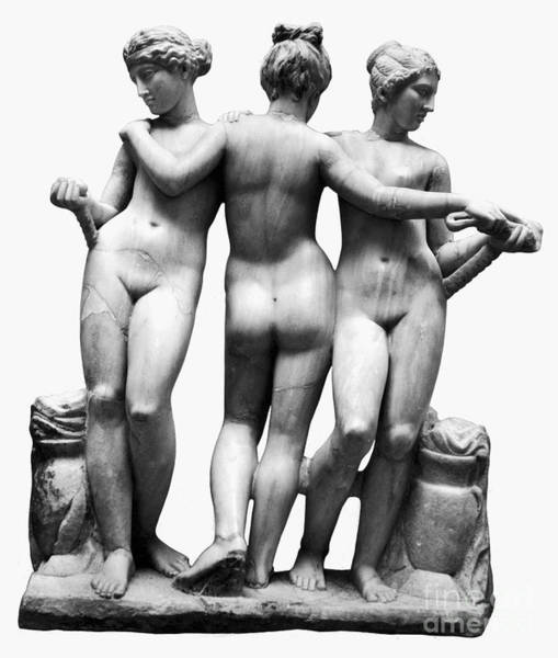 Painting - Three Graces by Granger