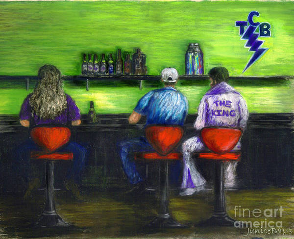 Wall Art - Painting - Three Guys In A Bar Tcb by Janice Bays
