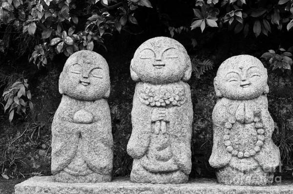 Buddhism Photograph - Three Happy Buddhas by Dean Harte